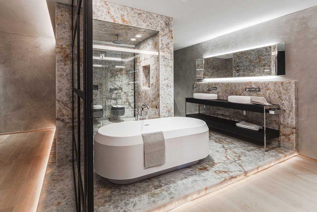 Breitwieser Badezimmer Naturstein Kristallmarmor