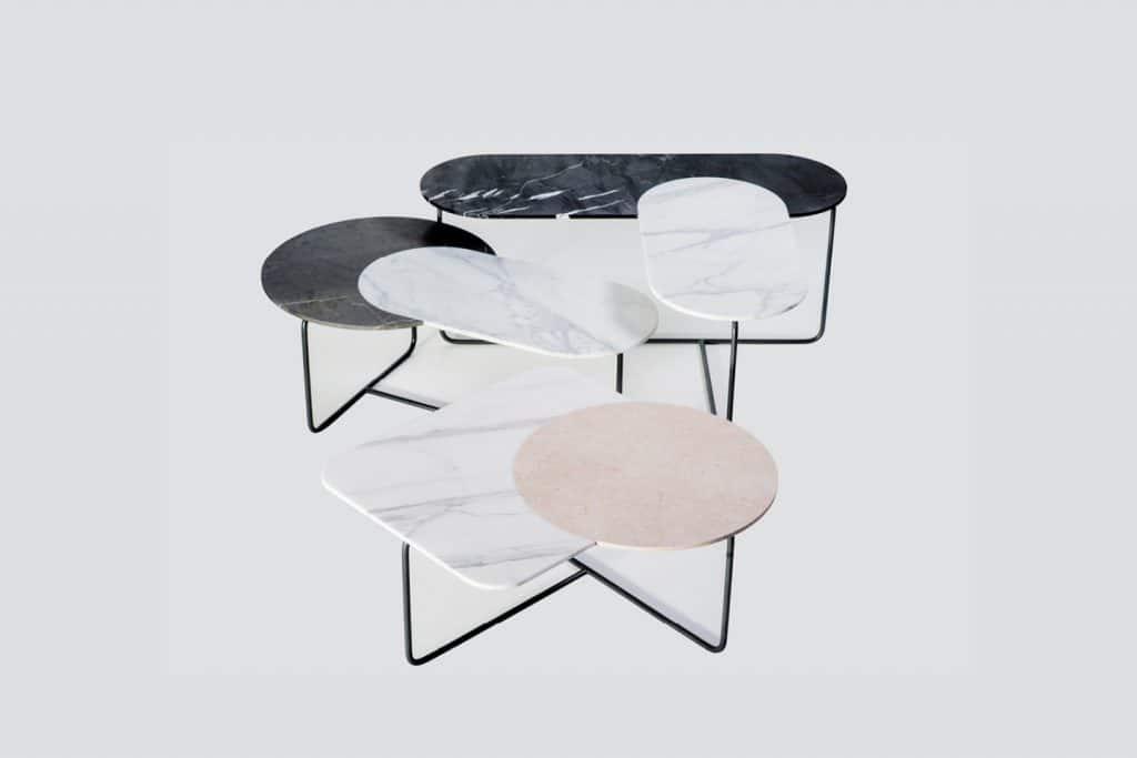 In Kooperation mit dem Wiener Industrial Designbüro SODA DES/GNERS entstand 2019 die Naturstein-Möbelkollektion Blending Marble.